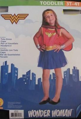 NEW Wonder Woman Toddler Halloween Costume Size 3T-4T FREE SHIPPING