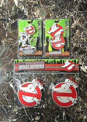GHOSTBUSTERS LOT - 2 Pack Spiral Notebook, 1GB USB/Eraser Combo, Four Eraser Set