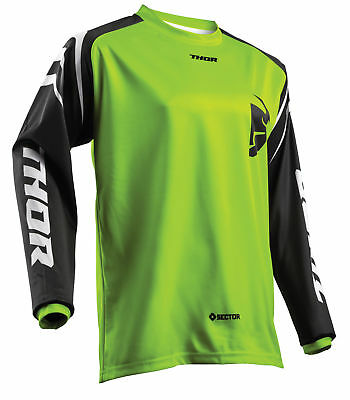 THOR MX Motocross Men's 2018 SECTOR ZONES Jersey (Lime) Choose Size