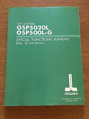 Okuma CNC Lathe LB25 and other  OSP5020L OSP500L-G Special Functions Manual