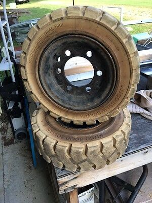 Mitchell Industrial Fork Lift Tire + Wheel  15 x 4 1/2 - 8  3.00, 6 hole wheel