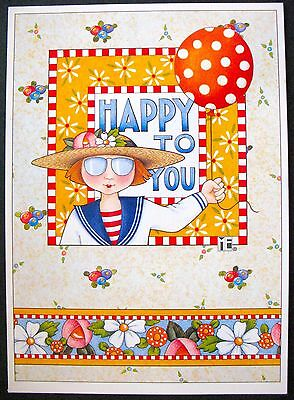 UNUSED 1997 Mary ENGELBREIT BIRTHDAY Greeting Card HAPPY TO YOU, TOO +env