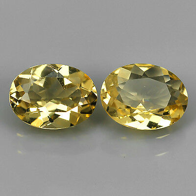 1.08 Ct Wonderful Natural Brazilian Yellow Beryl Earing Oval Cut Loose Gemstones