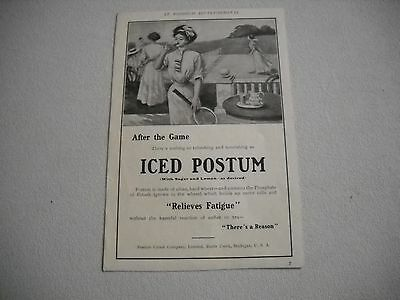 "1909 Postum Cereal Company Advertisement ""After the Game"" Battle Creek MI"