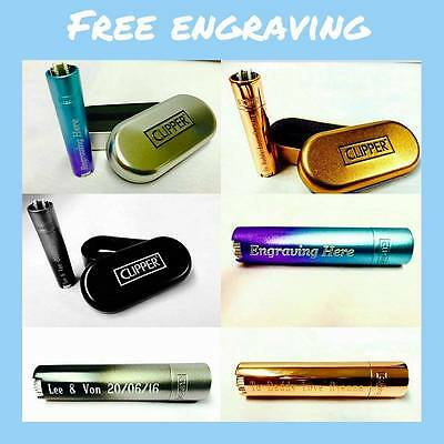 Clipper Metal Lighter Engraving Personalised Engrave Gift Box For Christmas