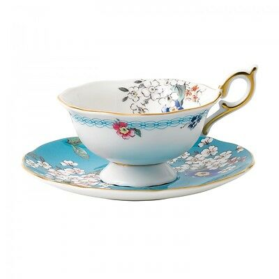 NEW Wedgwood Wonderlust Apple Blossom Teacup & Saucer Great Gift, Low Price!!