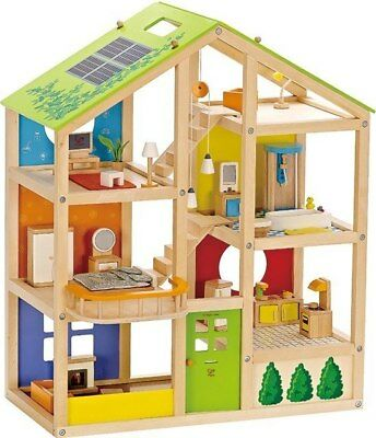 New Hape All Seasons Wooden Dollhouse Childrens Toy