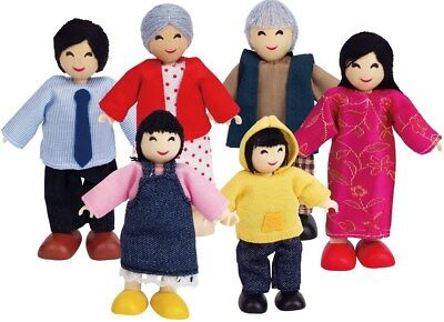 New Hape Dolls Asian Family  - Set of 6 Childrens Toy