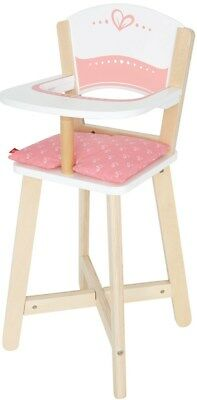 New Hape Wooden Baby Doll Highchair Childrens Toy