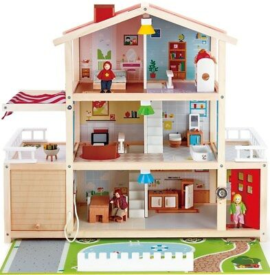 New Hape Doll Family Mansion Childrens Toy