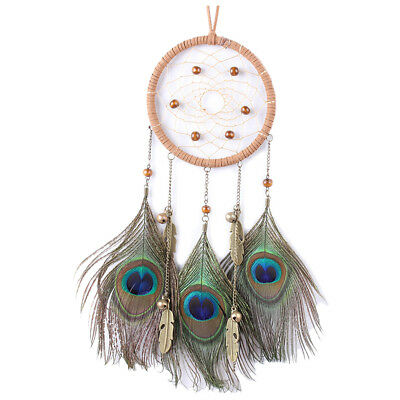 1 color ABS ring + fluff home handmade ancient bronze peacock bells hanging K5P8