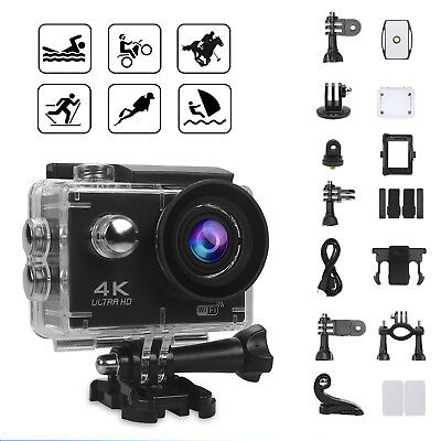 Waterproof 4K Ultra HD Sports Camcorder Helmet Action DV WiFi Camera Go V3 Pro