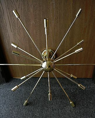18 ARM Mid Century Modern Sputnik Chandelier Light Fitting POLISHED BRASS