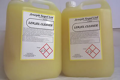 Lemon floor gel cleaner heavy duty industrial floor cleaner 2 x 5 litres