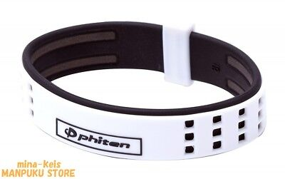 Phiten RAKUWA Bracelet S DUO Type Titanium 17cm White Black F/S with tracking
