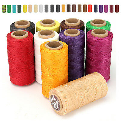 200m x1.2mm Thick 210D Leather Sewing Waxed Coarse Thread Spool Polyester Cord