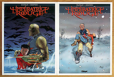 Dufaux & Adamov - L'imperatrice Rouge Tome  2&3 Eo - Glenat - Tbe
