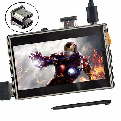 "3.5"" HDMI LCD Display Touch Screen Play Video Game for Raspberry Pi 2 3"