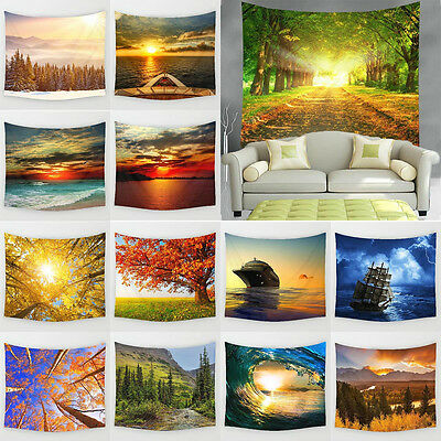 Nature Landscape Tapestry Wall Hanging Tapestries Hippie Bedspread Home Decor