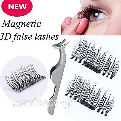 3D Magnetic False Eyelashes Individually Handmade Natural Eye Lashes & Tweezer
