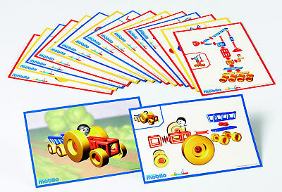 Mobilo Construction Toy - Work Cards - set of 12 cards