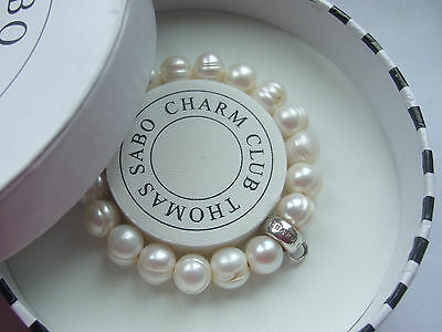 New genuine Thomas Sabo pearl carrier bracelet size Small