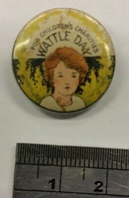 Wattle Day for Children's Charities Pin / Badge c1920's