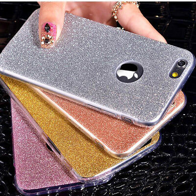 For Apple iPhone SE 5 5s Case Glitter Sparkly Bling Soft Shockproof Cover Shell