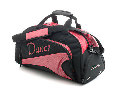 Medium Sparkly Red & Black Dance Ballet Tap Kit Holdall Sports Bag KB92 By Katz