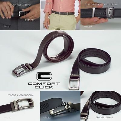 COMFORT CLICK Leather No Holes Belt Automatic Adjustable For Men As Seen On TV