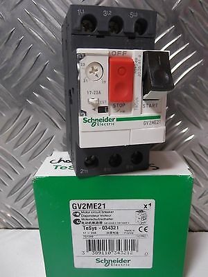Schneider GV2ME21 Thermal-Magnetic motor circuit breaker 17A->23 A 034321