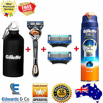 Gillette Fusion Razor Shaver Pro Glide Gel Clippers Shaving Pack Limited Edition