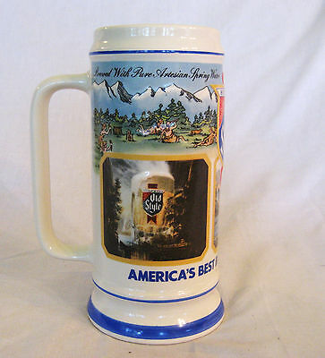 USA MADE OLD STYLE BEER STEIN -Americas Best Brewed Premium Beer-Limited Edition