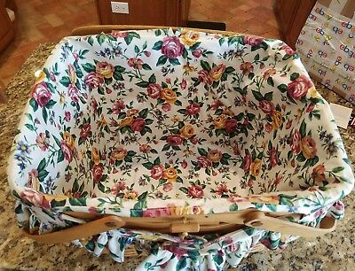 Longaberger Liner Only for Large Picnic Basket with handle gripper