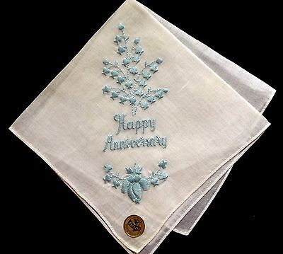 NASHARR Made in Switzerland Lovely Embroidery Floral Motif Handkerchief  NWT