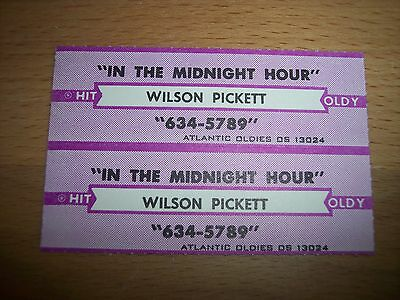 """2 Wilson Pickett In The Midnight Hour Jukebox Title Strips CD 7"""" 45RPM Records"""
