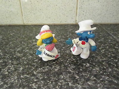 Smurf Bride and Groom Smurf Rare