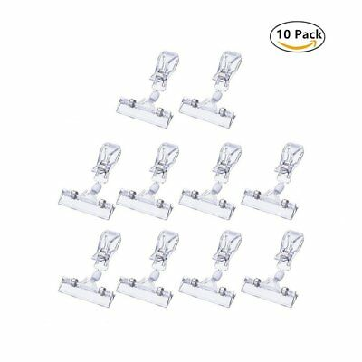 10PCS Merchandise Sign Clips Display Clip on Sign Holder Stand