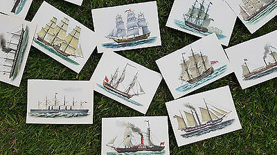 15 x Vintage Boat / Ship Illustration Book Plate (small size), ideal arts crafts