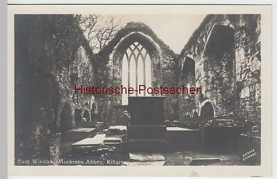 (53260) Foto AK Killarney, Muckross Abbey, East Window, vor 1945
