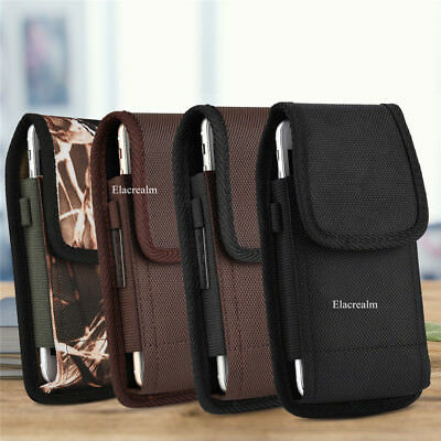 Belt Clip Vertical Holster Pouch Carrying Case For Apple/Samsung Large CellPhone