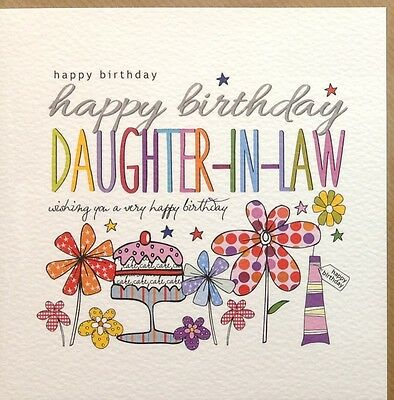 Daughter In Law Happy Birthday Card 185 Picclick Uk