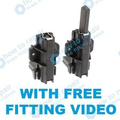 2 x Motor Carbon Brushes For HOOVER Washing Machine Pair Set Replacement