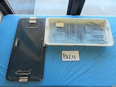 ASSI Surgical Urology Vascular Micro Surgical Instrument Set W/ Case