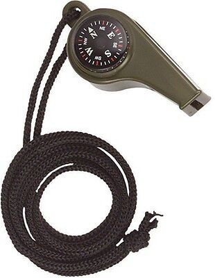 Green 3 In 1 Compass Emergency Whistle Thermo Ideal Educational Kit Boy Scouts