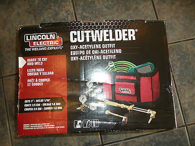 LINCOLN ELECTRIC CUTWELDER Oxy-Acetylene Outfit Cut Welder Kit KH838