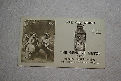 Agfa Metol Advertising Ink Blotter