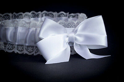 Bride To Be - Garter Hen Party - Night White Lace - Wedding Bridal Do White