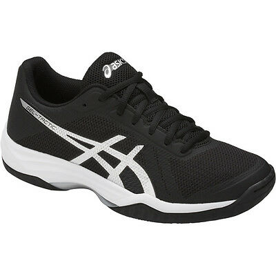 Asics Gel-Tactic Womens Volleyball Shoes, Black - Silver - White B752N-9093