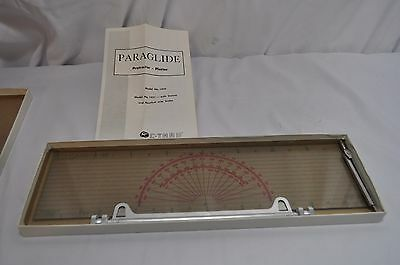 Vintage Paraglide  Protractor Plotter Model 1451 Cthru Nautical Statue
